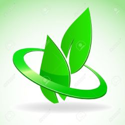 8893412-illustration-emblem-of-two-green-leaves-in-glossy-circle